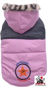 Vorführmodell - DoggyDolly Hundemantel rosa W266 - XL
