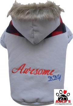 Vorführmodell - DoggyDolly Hundejacke AWESOME grau W298 - XL