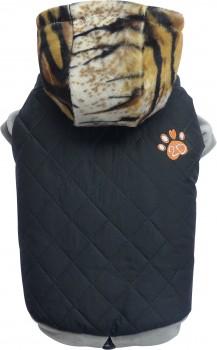 "Doggydolly W339 Hundemantel ""Caviar"" schwarz-tiger -M- Brust 41-43 cm Rücken 28-30 cm"