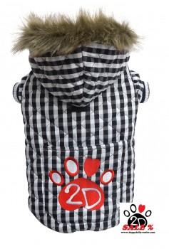 Vorführmodell - DoggyDolly Hundemantel kariert W344 - L