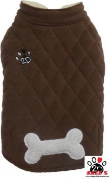 Vorführmodell - DoggyDolly Hundemanrel Fleece braun W349 - M