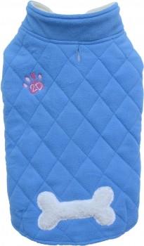 Doggydolly W350 Fleecemantel für Hunde hellblau