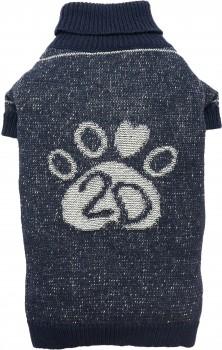 DoggyDolly W353 Strickpullover für Hunde Jeans-Look -XL- Brust 51-53 cm Rücken 33-35 cm