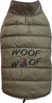 DoggyDolly W379 Hundemantel WOOFWOOF cappuccino - XL