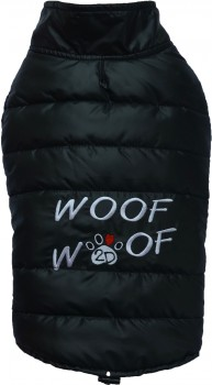 DoggyDolly W381 Hundemantel WOOFWOOF schwarz