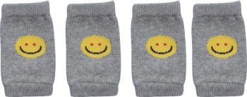 DoggyDolly WM001 Beinwärmer für Hunde Smiley grau