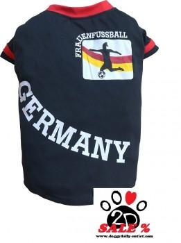 Vorführmodell - DoggyDolly Hundetrikot Frauenfußball schwarz WM2015B