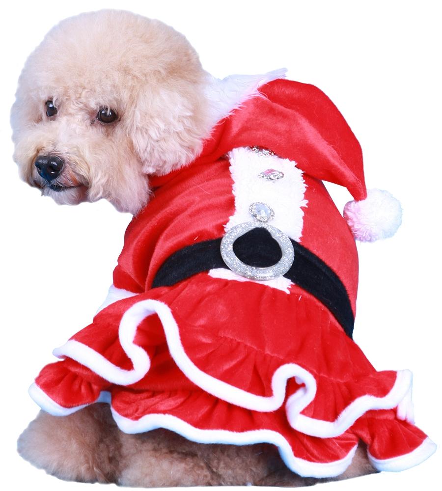 doggydolly st002 weihnachtskleid f r hunde st002. Black Bedroom Furniture Sets. Home Design Ideas