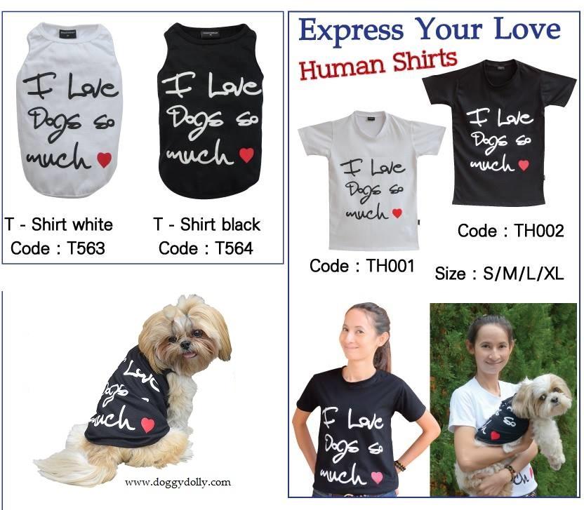 Totaler Trend Shirts Im Partnerlook Für Hund Frauchen