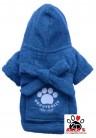 Vorführmodell - DoggyDolly Hundebademantel blau DRF019
