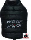 Vorführmodell - DoggyDolly MOPS&CO Hundemantel WOOFWOOF schwarz FP-W381