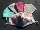 DoggyDolly Mundbedeckung für Kinder aus Baumwolle - Stoffmaske bunter Mix 5er Set