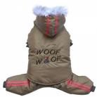 DoggyDolly W407 3-in-1 Schneeoverall für Hunde cappuccino