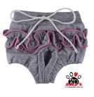 Vorführmodell - DoggyDolly Hundeschutzhöschen grau-rosa DSR010