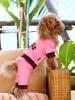 DoggyDolly DRF031 Jogginganzug für Hunde rosa - XXL