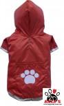Vorführmodell - DoggyDolly BIGDOG Hunderegenmantel rot BD012