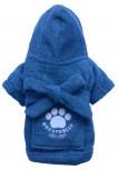 DoggyDolly BIG DOG BD050 Bademantel für große Hunde blau - XL