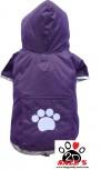 Vorführmodell - DoggyDolly BIGDOG Hunderegenmantel lila BD122