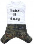 "DoggyDolly C225 Hundekombi Jeans ""Take it easy"" - S"
