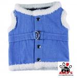 Vorführmodell - DoggyDolly Hundestoffgeschirr jeansblau DCL048