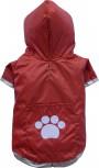 DoggyDolly DR003 Regenmantel für Hunde rot