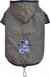 DoggyDolly MOPS&CO FP-DR052 Regenmantel für kräftige Hunderassen bronze FP-S