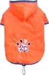 DoggyDolly DR056 Regenmantel für Hunde orange - XS