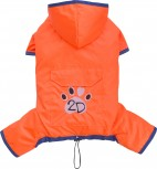DoggyDolly DR061 Regenoverall für Hunde orange - XXS
