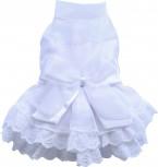 DoggyDolly DST003 Brautkleid für Hunde weiß