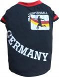 DoggyDolly MOPS&CO FP-WM2015B Hundetrikot Frauenfußball schwarz