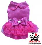 Vorführmodell - DoggyDolly Hundesfesttagskleid pink F024