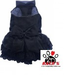 Vorführmodell - DoggyDolly MOPS&CO Hunde Abendkleid schwarz FP-F027