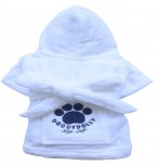 DoggyDolly MOPS&CO FP-DRF001 Bademantel für Hunde weiß