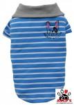 Vorführmodell - DoggyDolly MOPS&CO Hundeshirt blau gestreift FP-T499