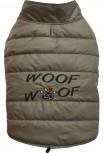 DoggyDolly MOPS&CO FP-W379 Wintermantel WOOFWOOF für kräftige Hunderassen cappuccino