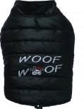 DoggyDolly MOPS&CO FP-W381 Wintermantel WOOFWOOF für kräftige Hunderassen schwarz