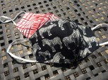 DoggyDolly Mundbedeckung aus Baumwolle - Stoffmaske / Gesichtsmaske Zebra 2er Set