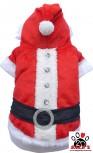 modell - DoggyDolly Hundeweihnachtsmantel rot-weiß ST001 - XXS
