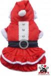 Vorführmodell - DoggyDolly Hundeweihnachtskleid rot-weiß ST002