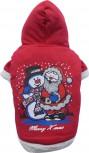 DoggyDolly ST006 Weihnachtspullover für Hunde rot