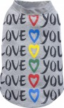 "DoggyDolly T180 Hundeshirt ""LOVE YOU"" grau"