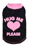 """DoggyDolly T235 Hundeshirt """"HUG ME"""" schwarz-pink - XXS"""