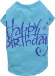 "DoggyDolly T471 Hundeshirt ""Happy Birthday"" blau"