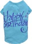 "DoggyDolly T471 Hundeshirt ""Happy Birthday"" blau - XS"