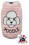 Vorführmodell - DoggyDolly Hundeshirt POODLE gestreift T489