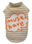 "DoggyDolly T535 Hundeshirt gestreift ""MUST HAVE"" - L"