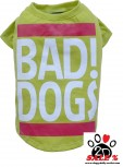 "Vorführmodell - DoggyDolly Hundeshirt ""BAD DOGS"" grün T537"