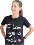 DoggyDolly Partnerlook Shirt für´s Frauchen schwarz - XL