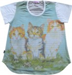DoggyDolly T-Shirt für´s Frauchen Tiermotiv KATZE