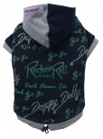 DoggyDolly W169 Kapuzen Pullover für Hunde schwarz-grün